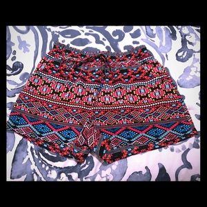 Multicolored Silky Shorts